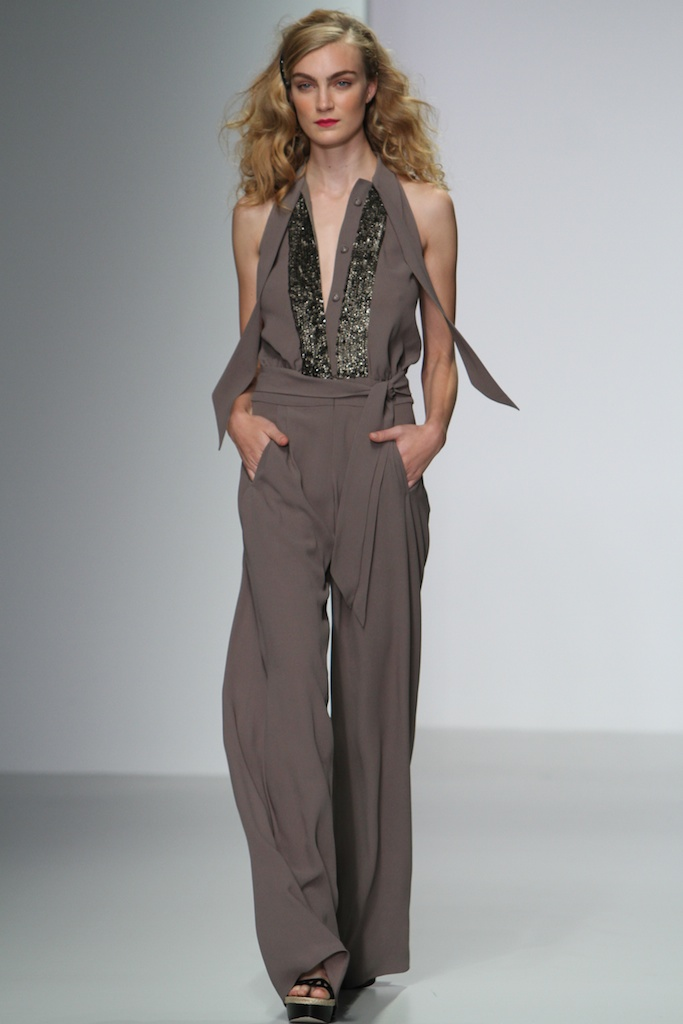 Clay Creme Repoussoir  jumpsuit with textured sequin