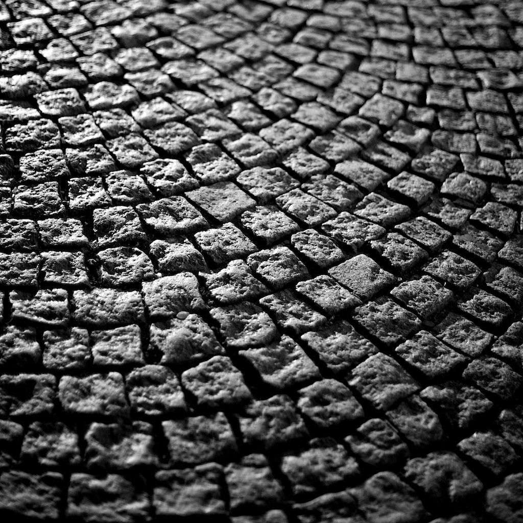 Close up of cobble stone street