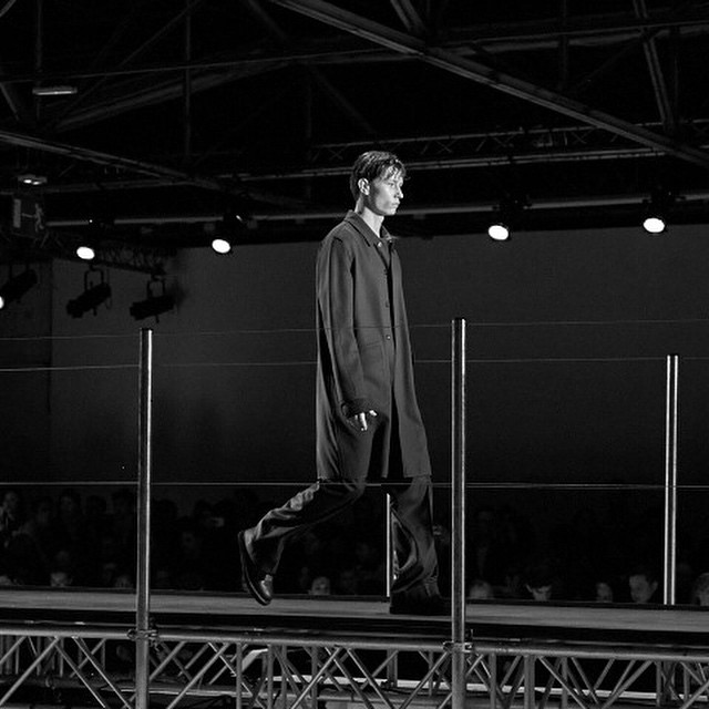 From #wooyoungmi fashion show in #Paris @wooyoungmiofficial #AW15 #pfw #menswear #palaisdetokyo #style #catwalk #livingfash with @dreadheadphoto