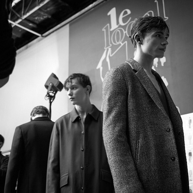 #Backstage #models getting ready for @wooyoumiofficial #wooyoungmi fashion show #AW15 #b&w #pfw #livingfash with @dreadheadphoto