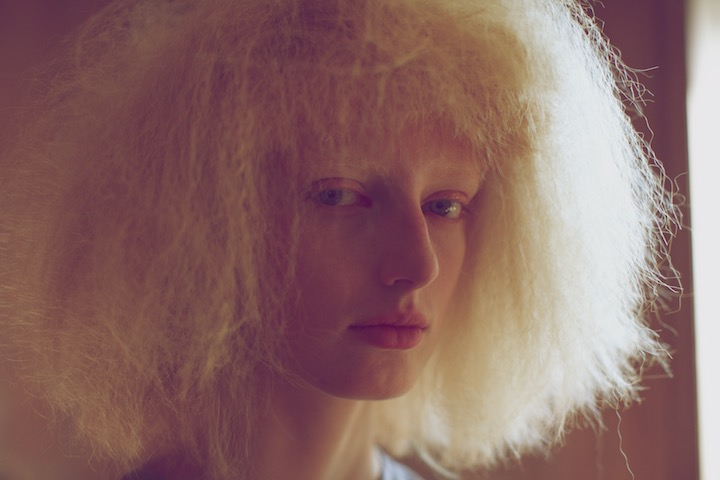 One of the models for Anne Sofie Madsen collection SS15.