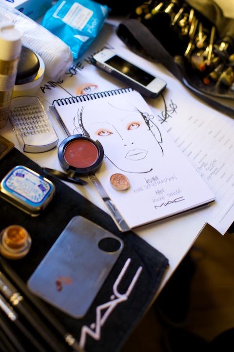 model look prepared by make up artist