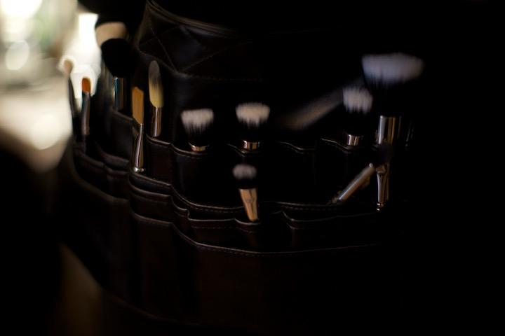 Make up artist brushes