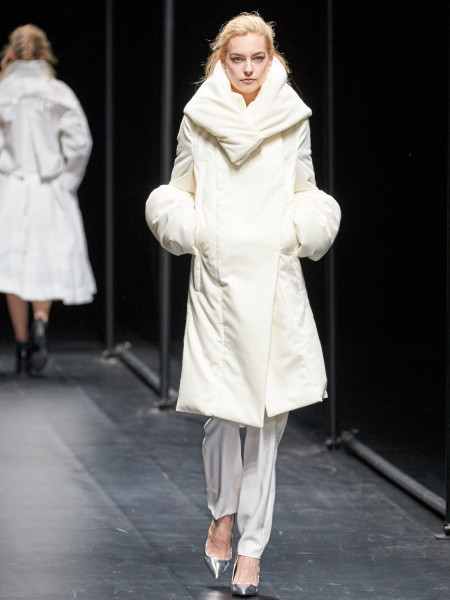 model wearing A Degree Fahrenheit AW15-16 Collection during MBFWT image by Akin Abayomi