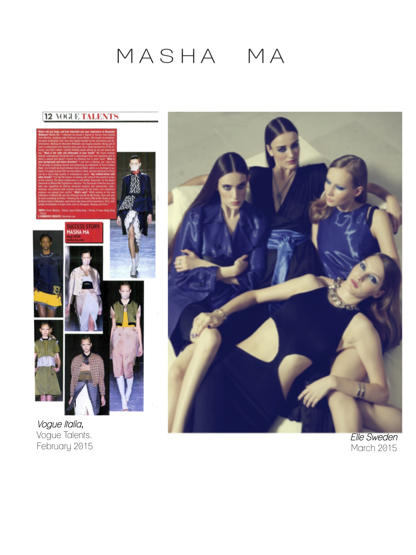 Masha  Ma fashion designer press