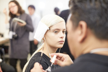 backstage coverage of designer Yasutoshi Ezumi 江角 泰俊
