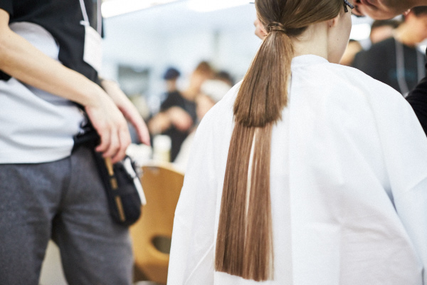 backstage coverage of designer Yasutoshi Ezumi  江角 泰俊 image by Akin Abayomi