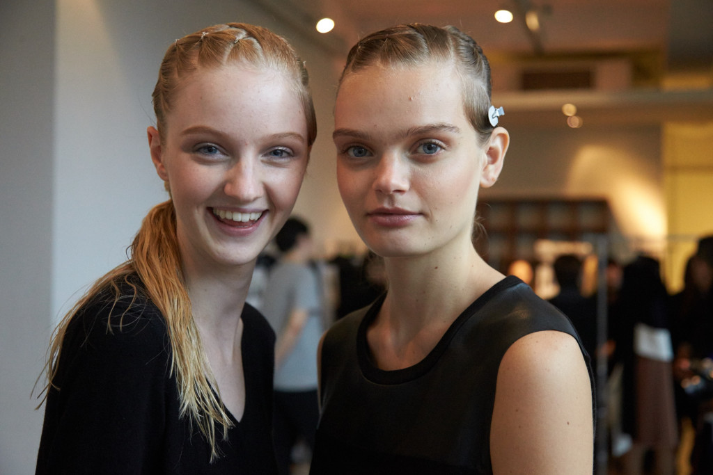 yasutoshi ezumi ss16, MBFWT, backstage make up and hair