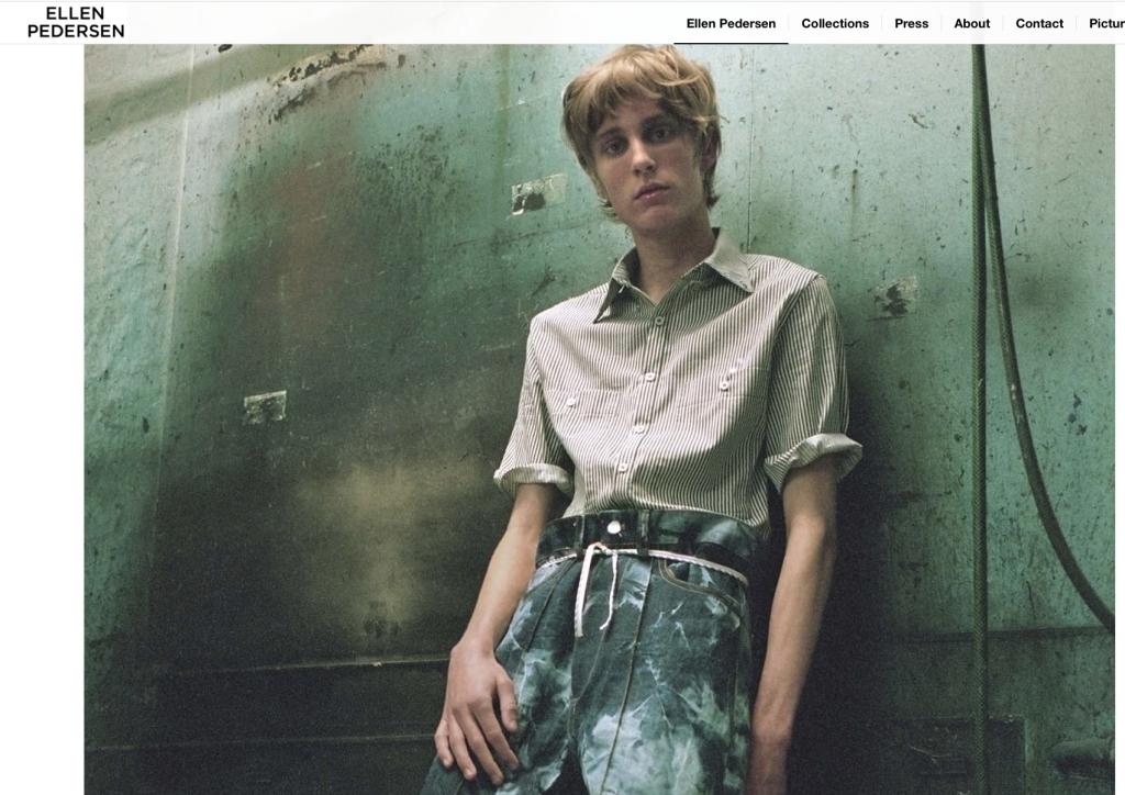 screenshot of Ellen Pedersen website