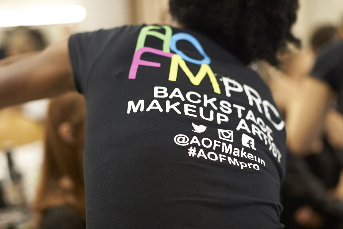 Livingfash media coverage, backstage, image Akin Abayomi, #AOFMpro, AOFMakeup, Anne Sofie Madsen [DNK], Backstage, JFW, Tokyo