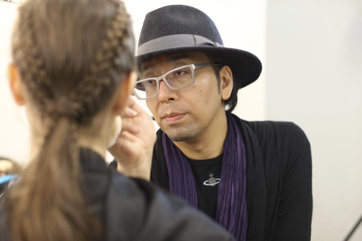 Behind the scenes, backstage coverage of fashion show by designer Zin Kato during AFWT, image by Akin Abayomi