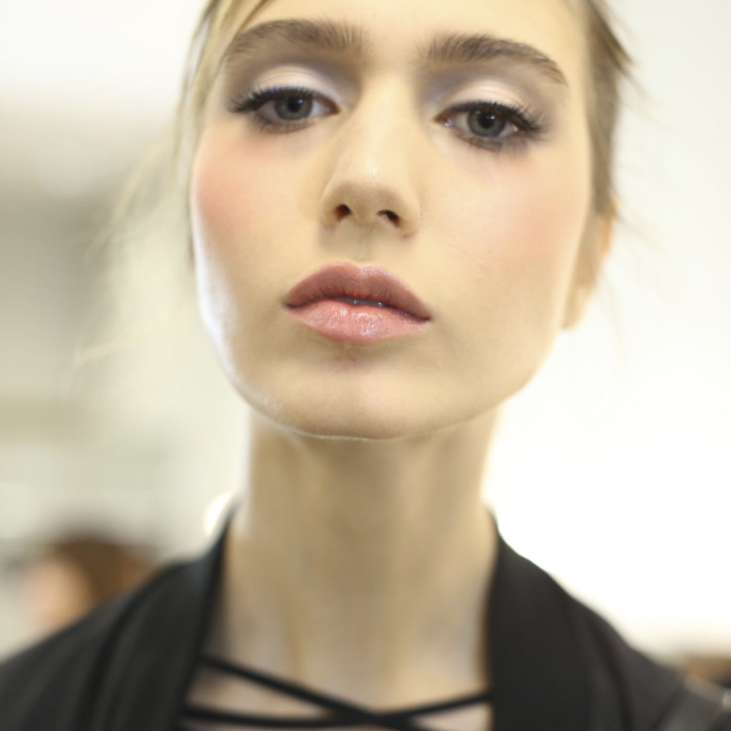 model backstage for Zin Kato fashion show at Amazon Fashion Week Tokyo, SS17, behind the scenes, makeup and hair, beauty coverage, Livingfash magazine