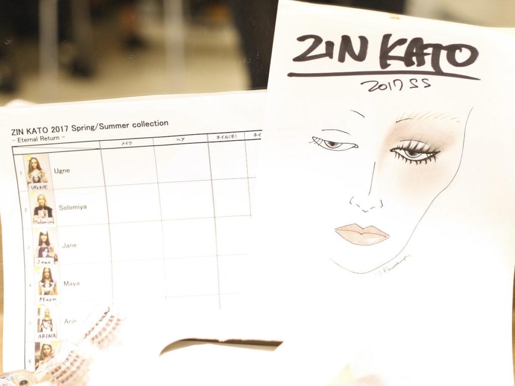 Zin Kato Backstage SS17, noodboard, makeup, Behind the scenes, livingfash magazine