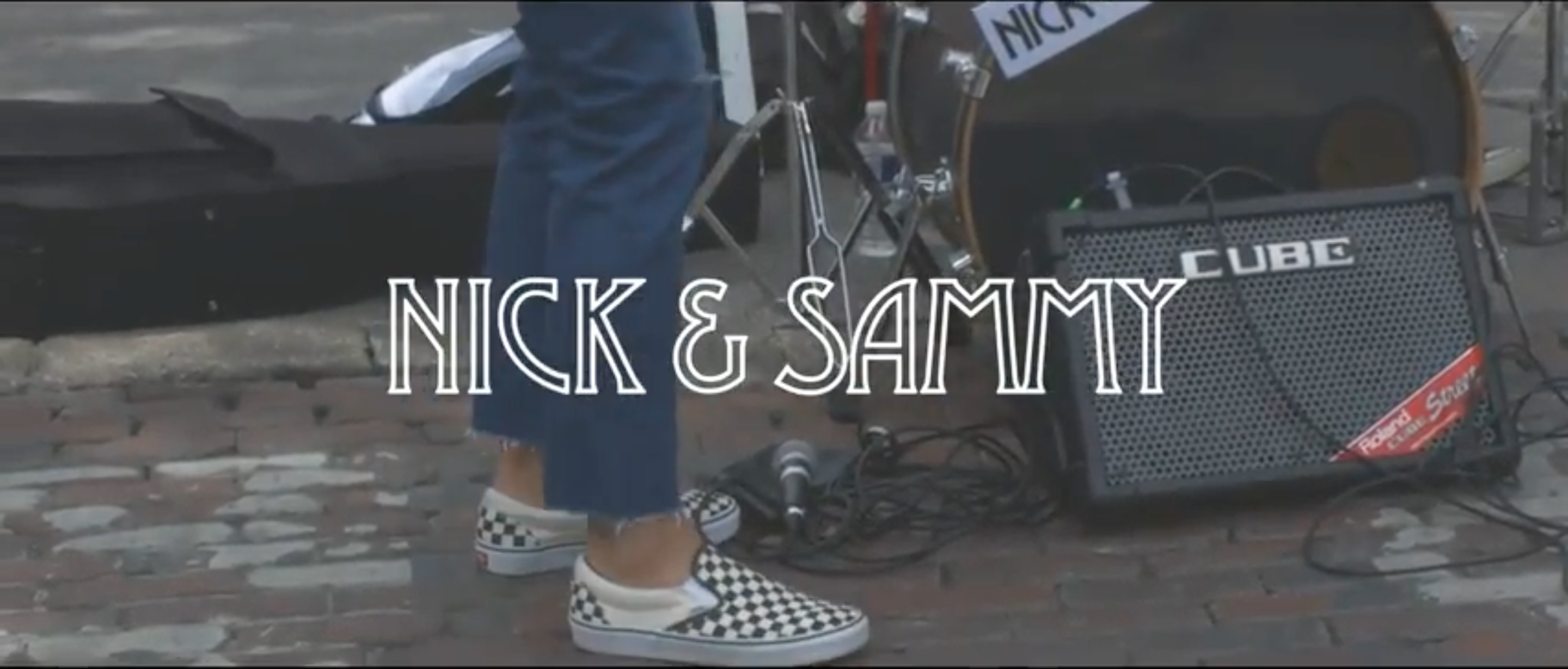 nick and sammy video, busking on sixth street, austin texas, sxsw, music