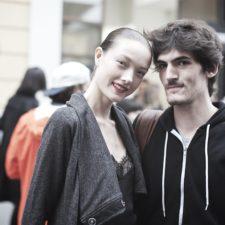 Street Fashion during Milan Fashion Week.